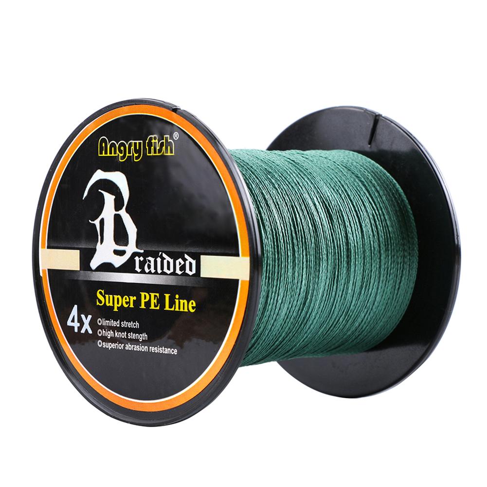 Advanced Professional 500m/547yds 4braid Solid Color Braided Fish Line - Dark Green
