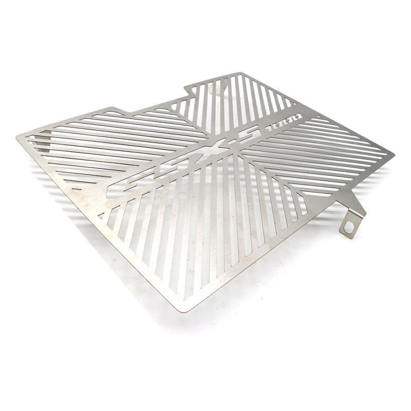 Stainless Steel Motorcycle Radiator Water Tank Guard Protective Cover for SUZUKI GSX-S1000 15-17 silver