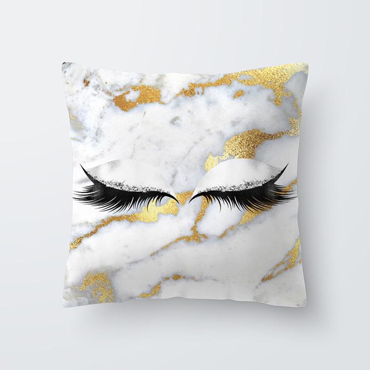 Eyelash Pattern Throw Pillow Cover for Living Room Sofa Sleeping Waist Support 14#_45*45cm