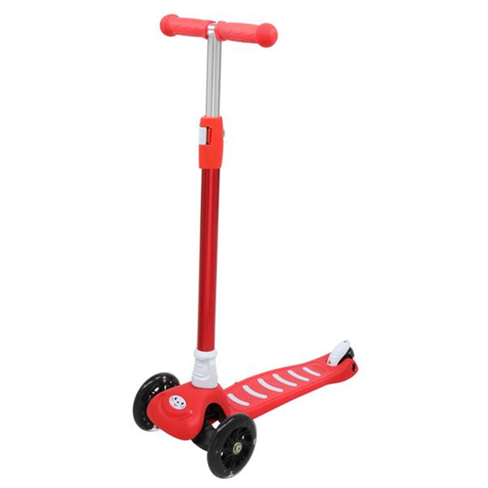 [US Direct] Ls304b 3-wheeled Toddler Scooter For Kids Height Adjustable Portable Scooter red
