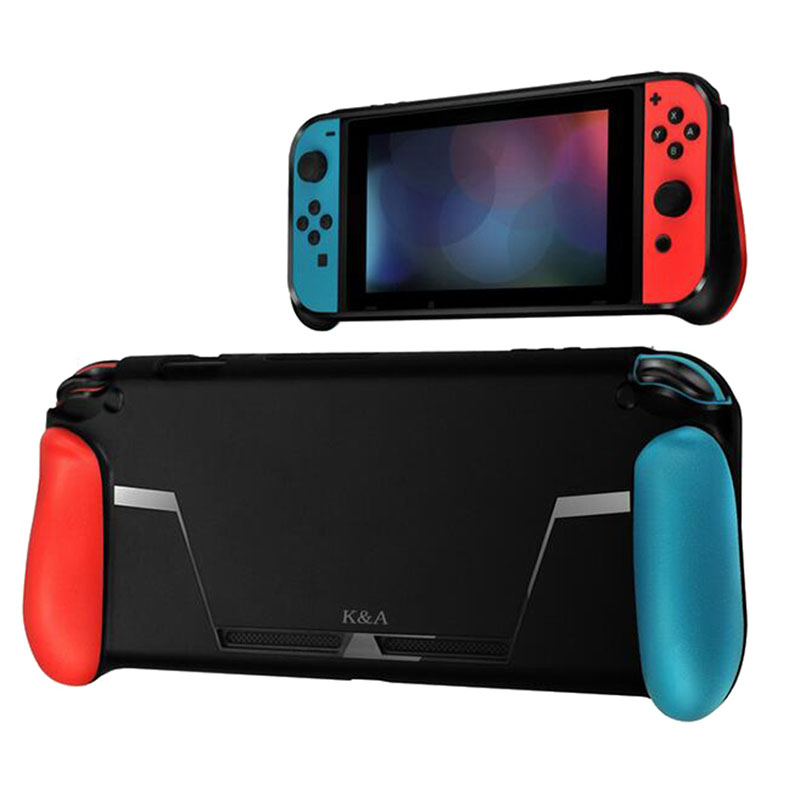 For Nintend Switch Console TPU Shock-Absorption Protective Grips Cover Case  Red blue