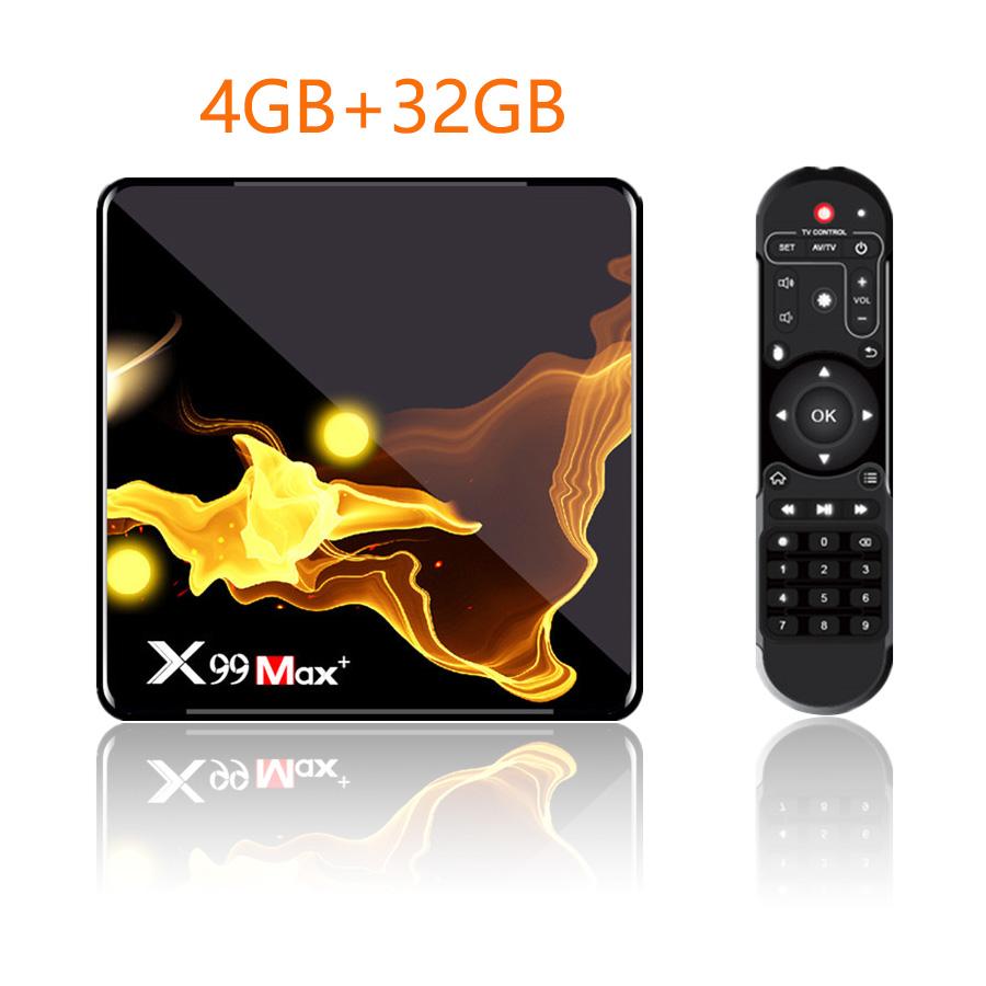 X99 Max+ Tv  Box S905x3 Chip Dual Frequency Wifi Uad Core 4gb Ram 32gb 64gb Wifismart Tv Box 4+32G_Eu plug