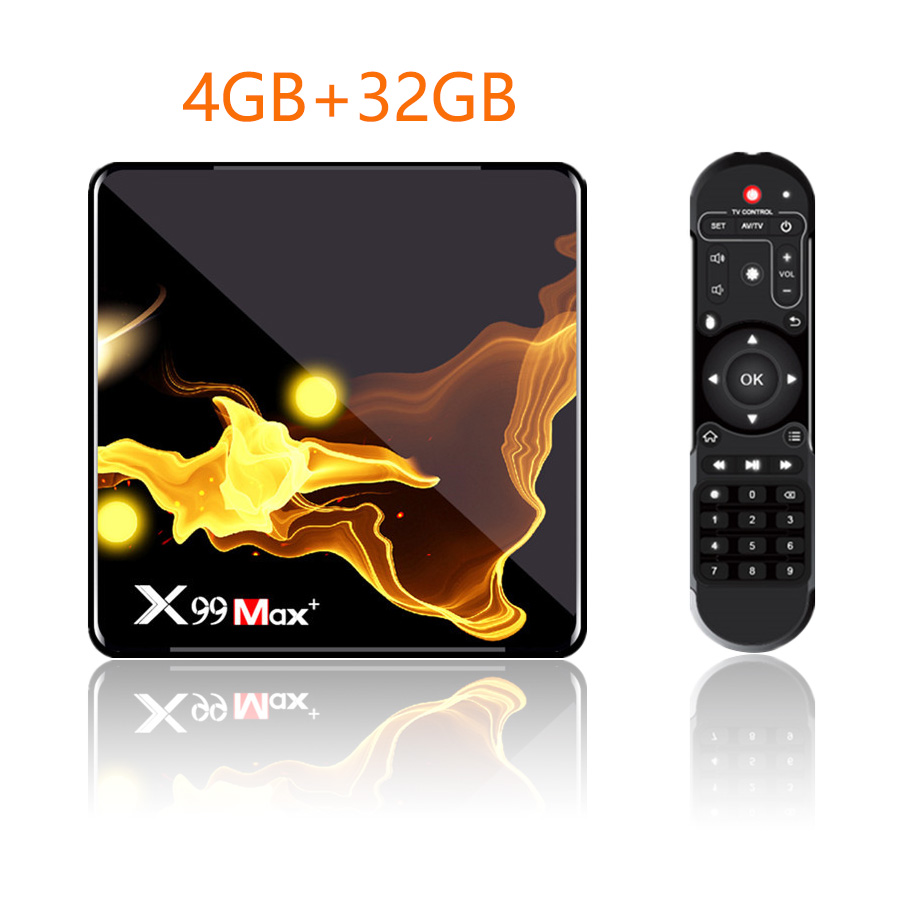 X99 Max+ Tv  Box S905x3 Chip Dual Frequency Wifi Uad Core 4gb Ram 32gb 64gb Wifismart Tv Box 4+32G_UK plug