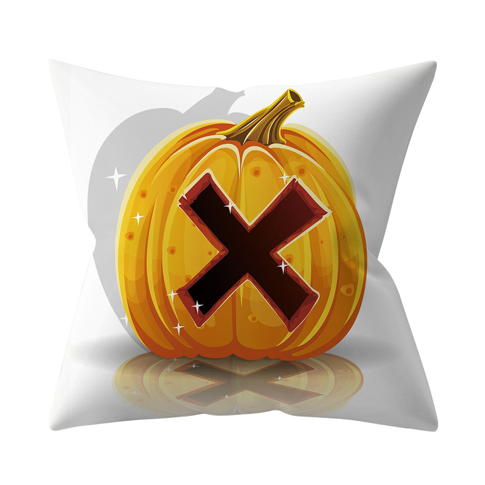Halloween Series Letter Printing Throw Pillow Cover for Home Living Room Sofa Decor X_45*45cm