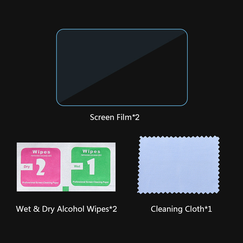 for GoPro Max LCD Display Screen Protector Tempered Glass Film Protector Protective Film Transparent