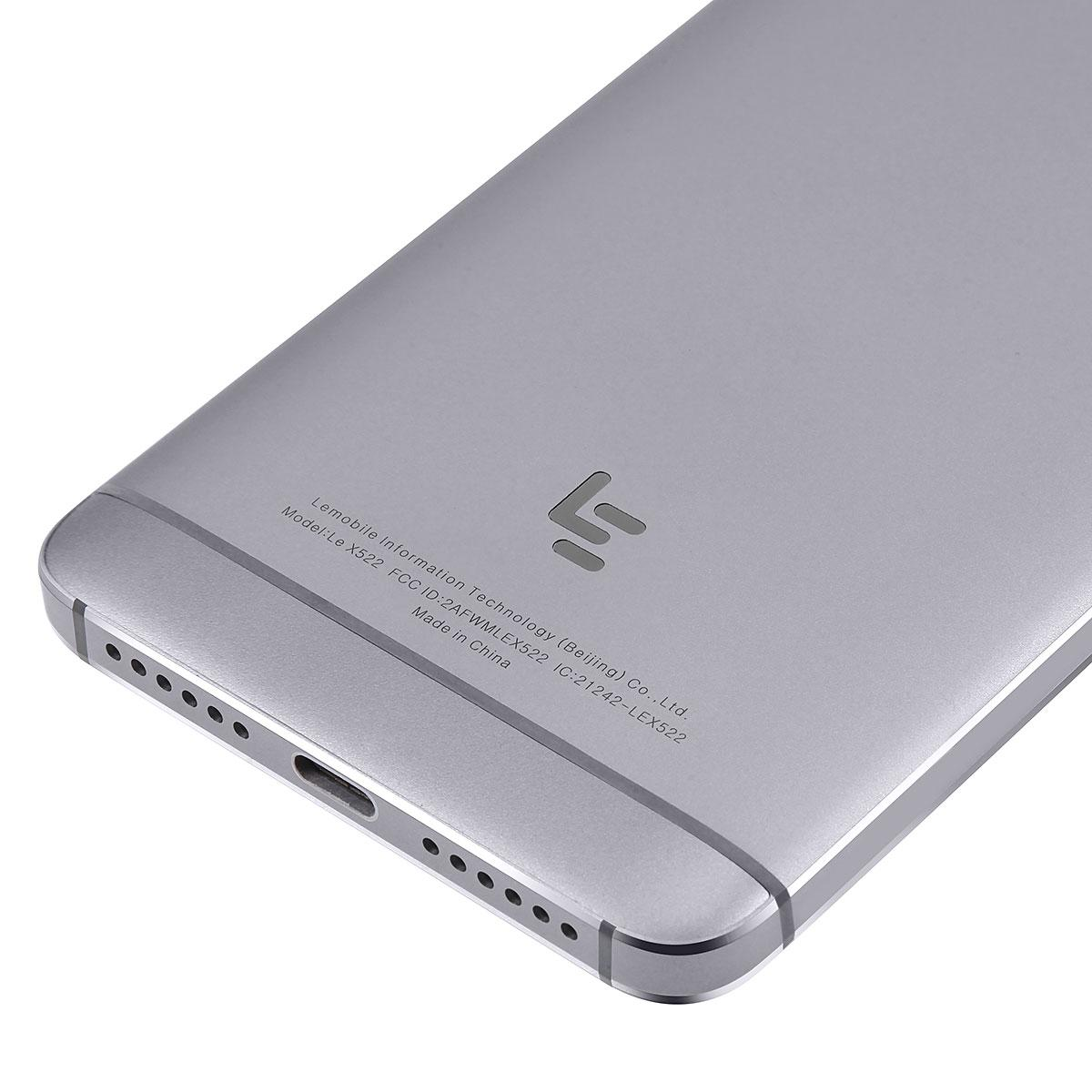 LeTV LeEco 4G Smartphone - 5.5 Inch FHD Screen, Fingerpring Sensor, Android 6.0, Octa-Core CPU, 3GB RAM, Dual-Band Wifi Grey