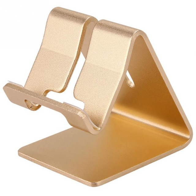 Alloy Steel Table Phone Holder Gold