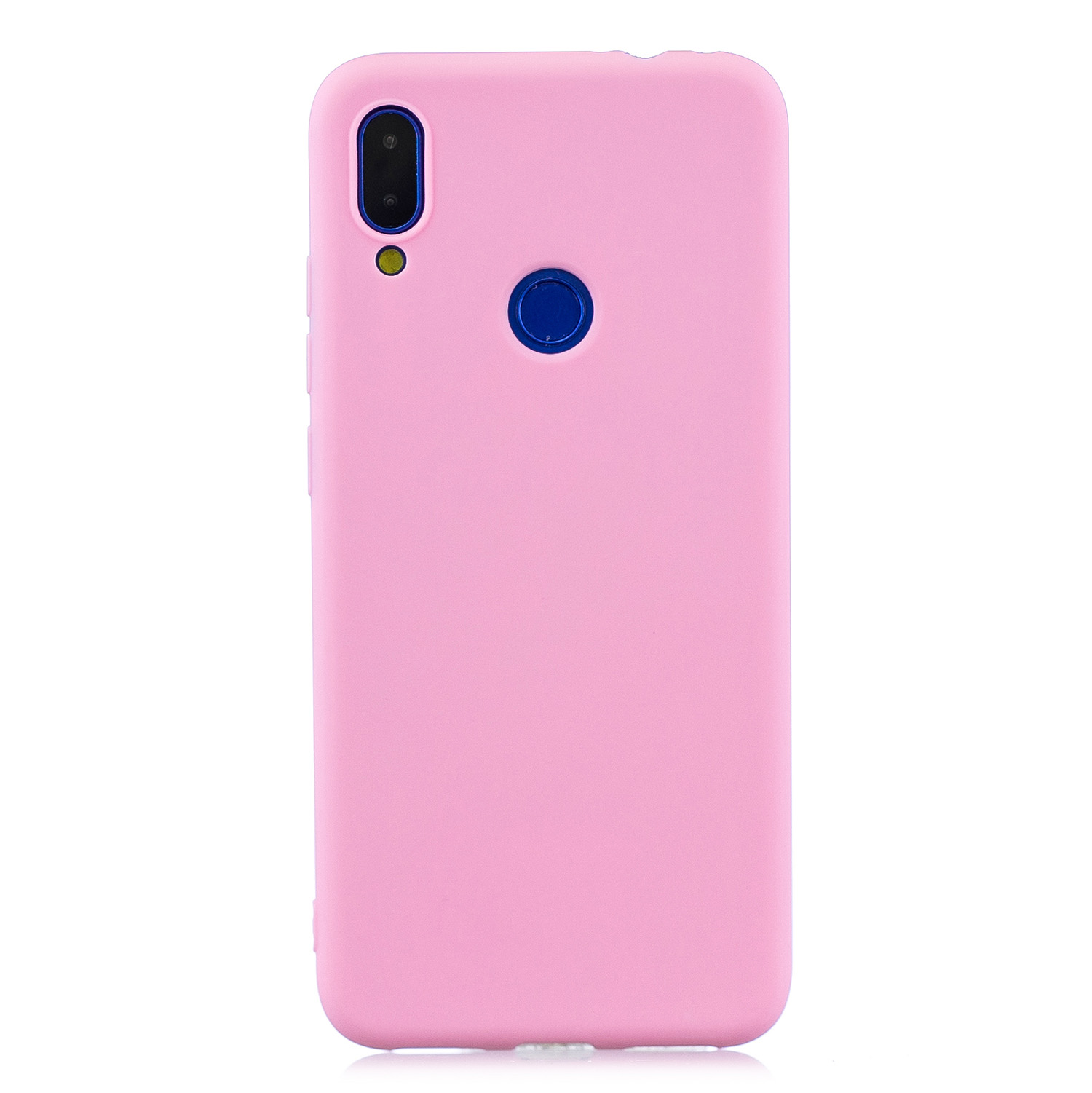 For Redmi 7 Lovely Candy Color Matte TPU Anti-scratch Non-slip Protective Cover Back Case dark pink
