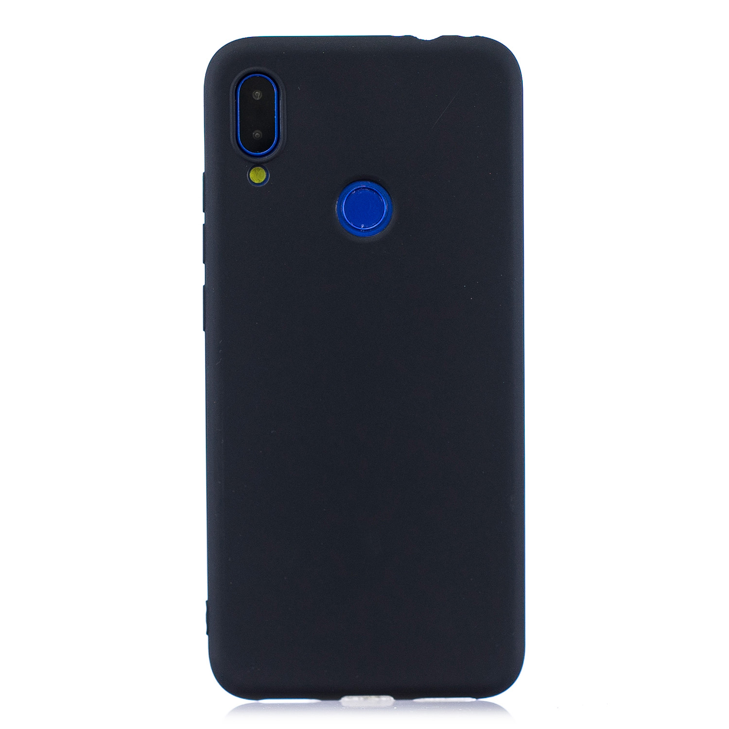 For Redmi 7 Lovely Candy Color Matte TPU Anti-scratch Non-slip Protective Cover Back Case black