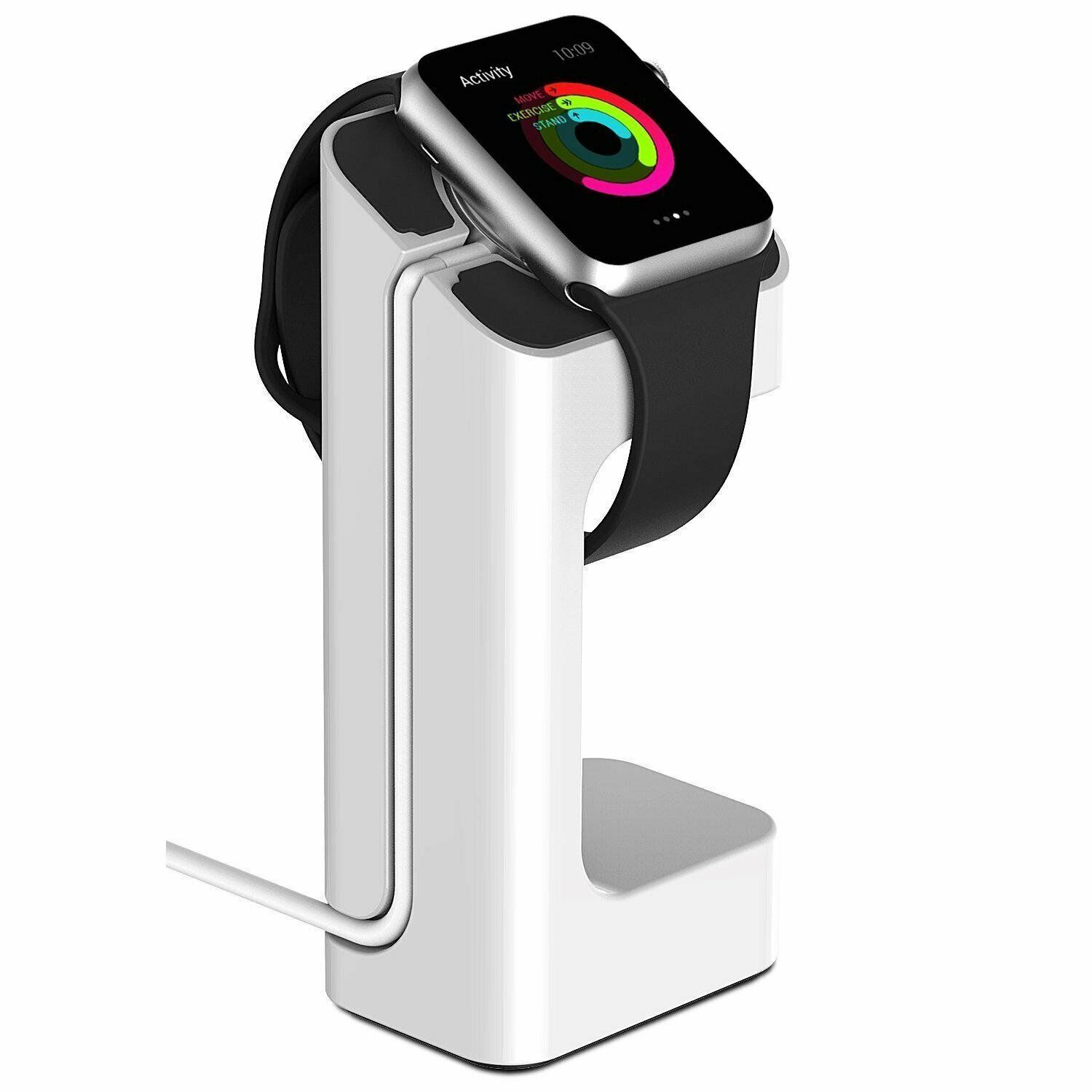 For Apple Watch Charger Stand Holder Charging Dock Station for iWatch 38 / 42mm white