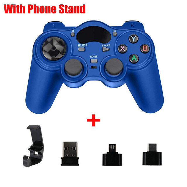 2.4G Gamepad Joystick Wireless Controller for PS3 Android Smart Phone TV Box Laptop Tablet PC blue