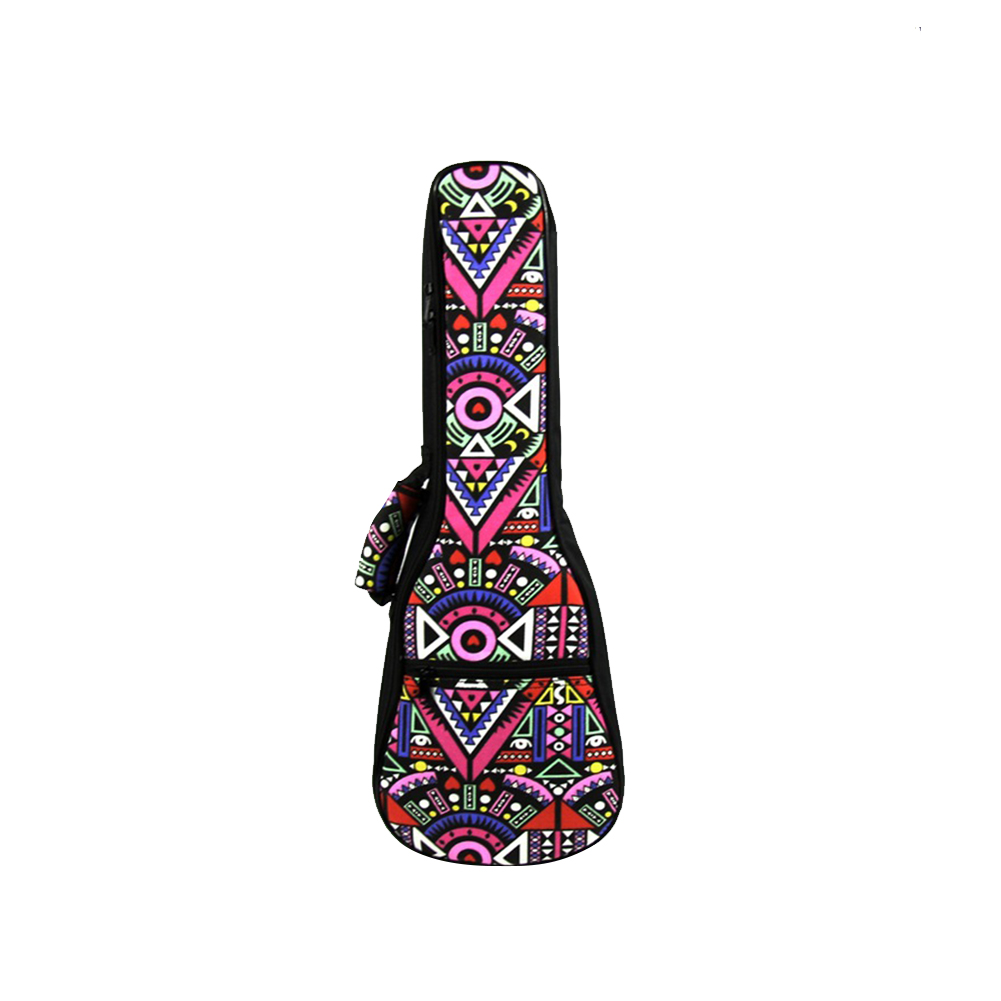 21 23 26 Inch Retro National Style Portable Ukulele Carry Bag Cotton Padded Case Ukulele Guitar Parts Accessories A 23 inch