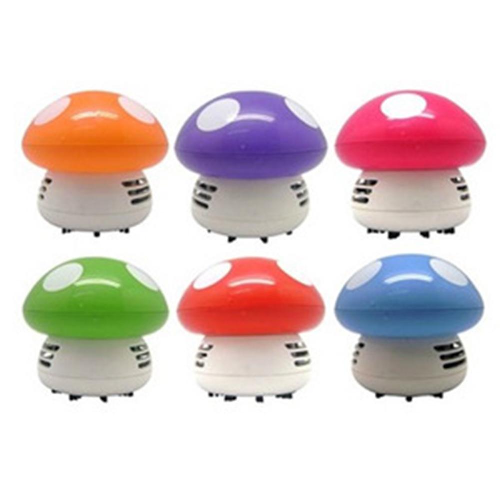 Mini Hand-held Dust Vacuum Cleaner Cute Design Portable Home Office Corner Desk Table Sweeper  mushroom_105*70*85mm