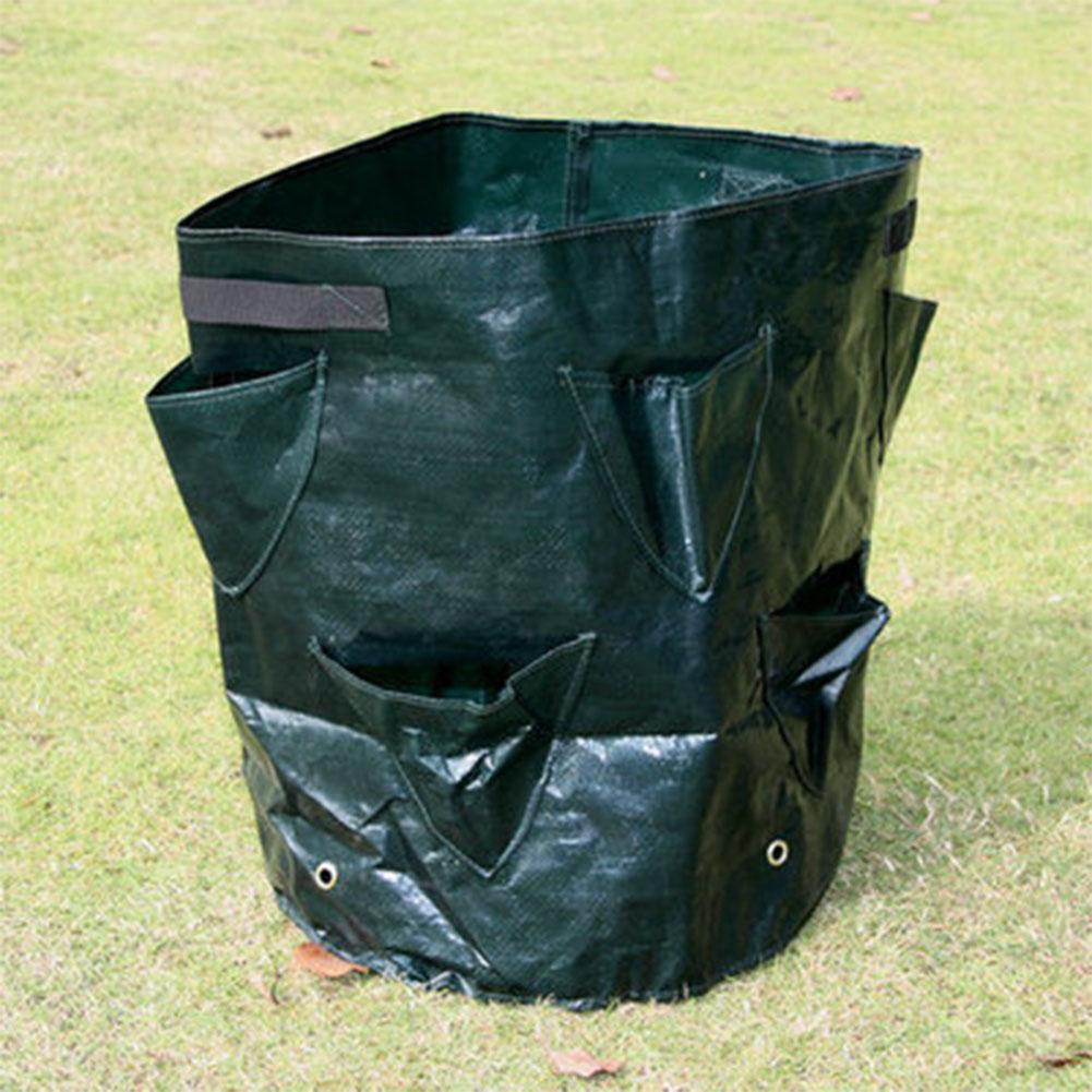 8-pocket PE Cloth Plant Grow Bag DIY Vegetable Planting Container Bag Thicken Garden Pot Garden Supplies Dark green PE cloth_35cm*45cm
