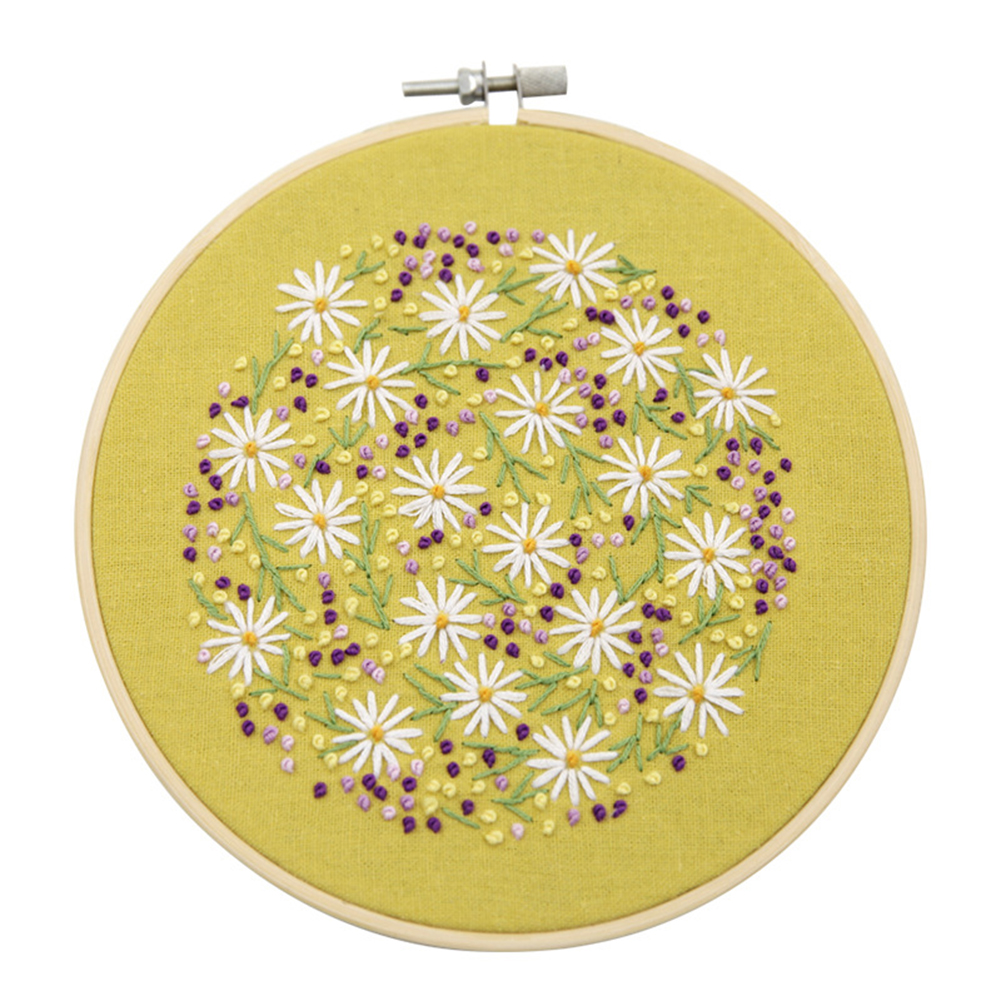 Embroidery  Starter  Kits Diy Hand Cross  Stitch Kit For Beginner Embroidery  Hoop Needles #5