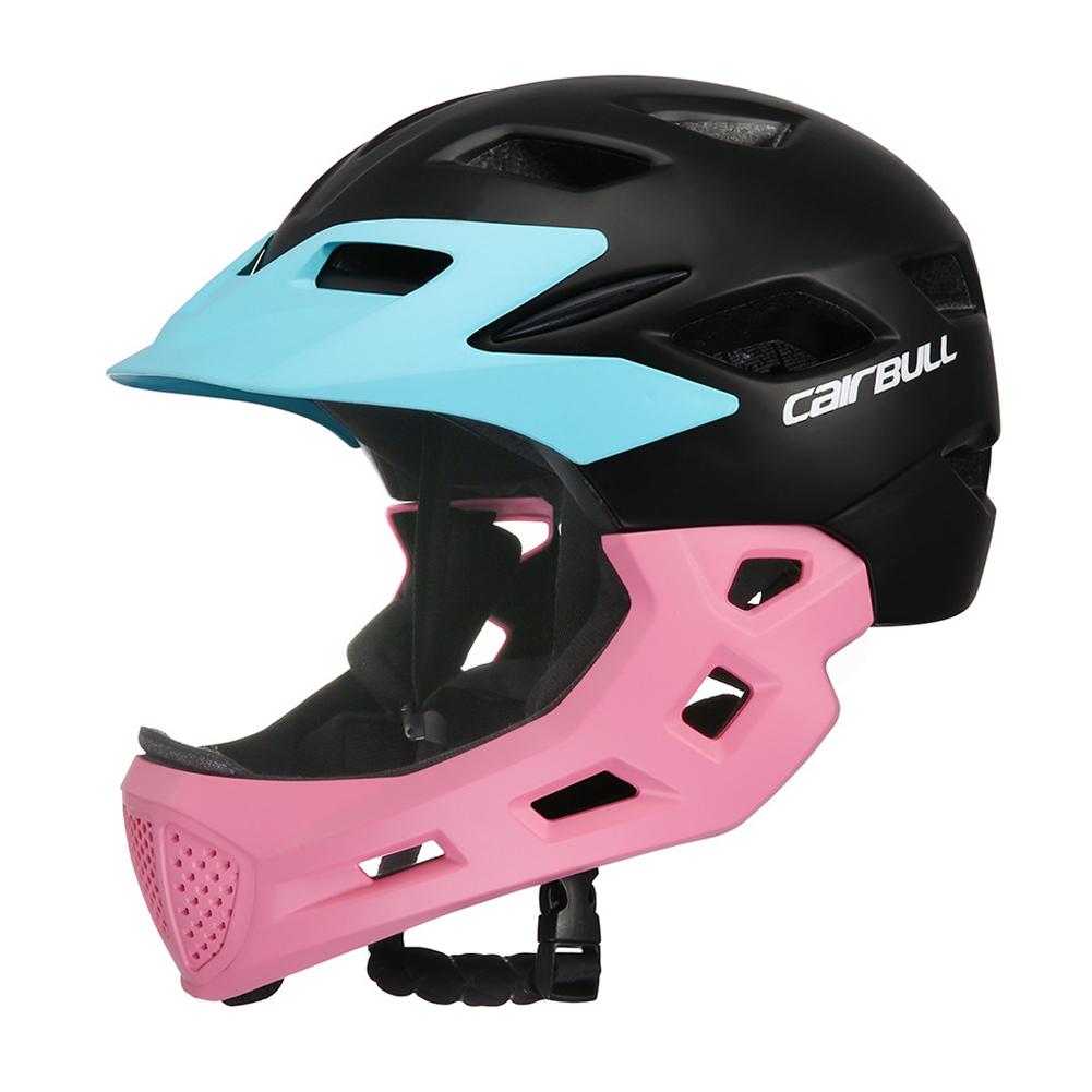 Children Full Face Covered Helmet Bike Riding Kids Skating Sport Safety Guard Bicycle Helmet Pink_S-M (50-57CM)