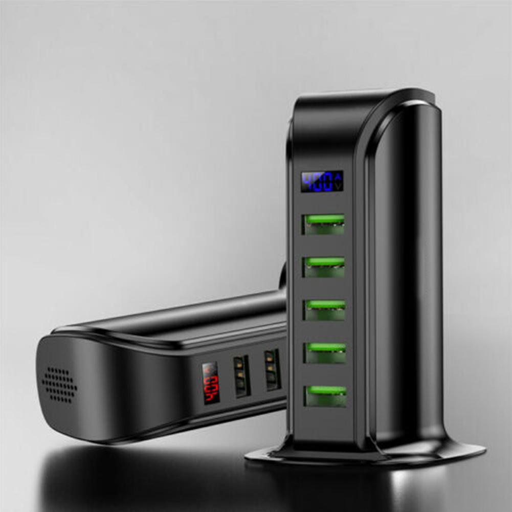 5 Port USB Plug Charging Station Dock Stand Desktop Charger Hub for Phone British regulatory