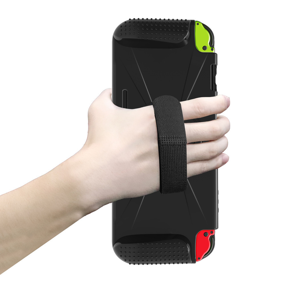 Non slip Bracket Protection Case Double Card Slot Design for Switch Protective Cover black