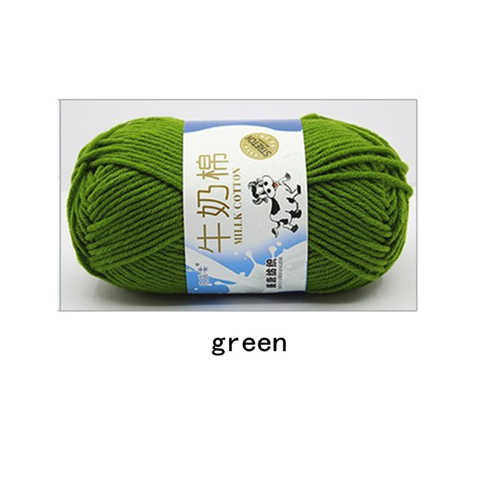 Hand Knitting Cotton Knitting Wool Doll Thread for Knitting Scarves Gloves Clothes green