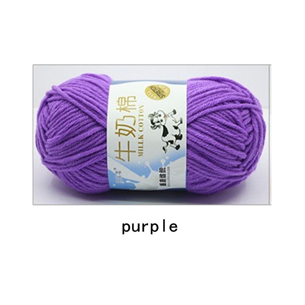 Hand Knitting Cotton Knitting Wool Doll Thread for Knitting Scarves Gloves Clothes purple