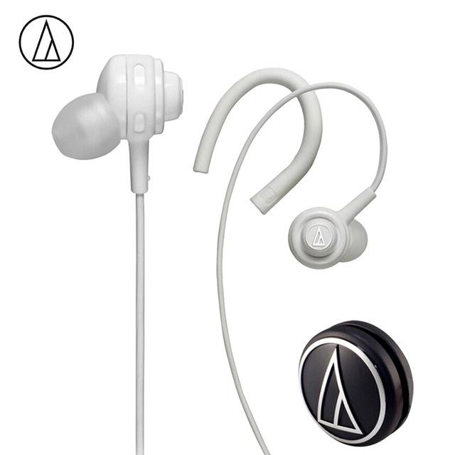 Original Audio-Technica ATH-COR150 Wired Earphone In-ear Sport Headset Adjustable Ear-hook Headphone Sweatproof Design White