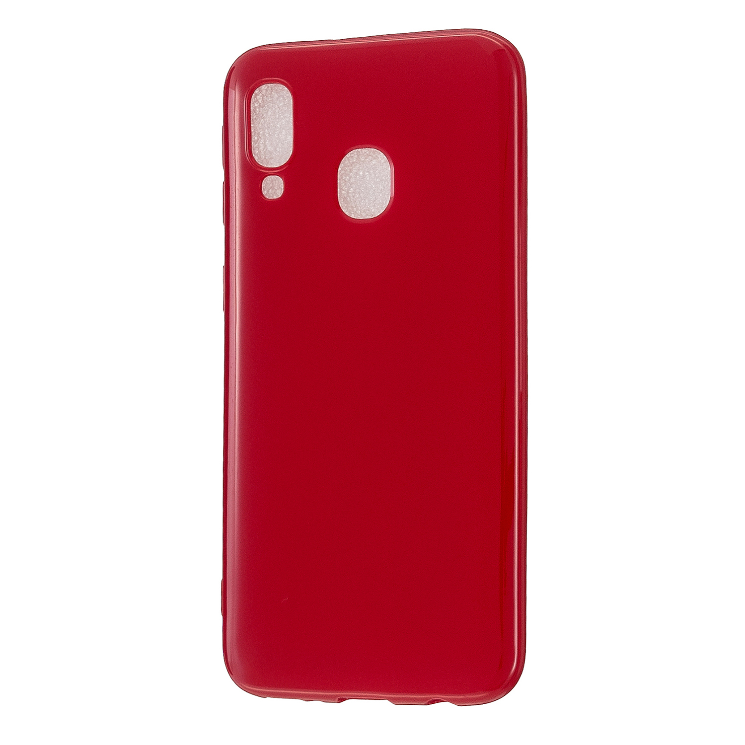 For Samsung A20E/A40/A70 Cellphone Cover Soft TPU Phone Case Simple Profile Scratch Resistant Full Body Protection Shell Rose red