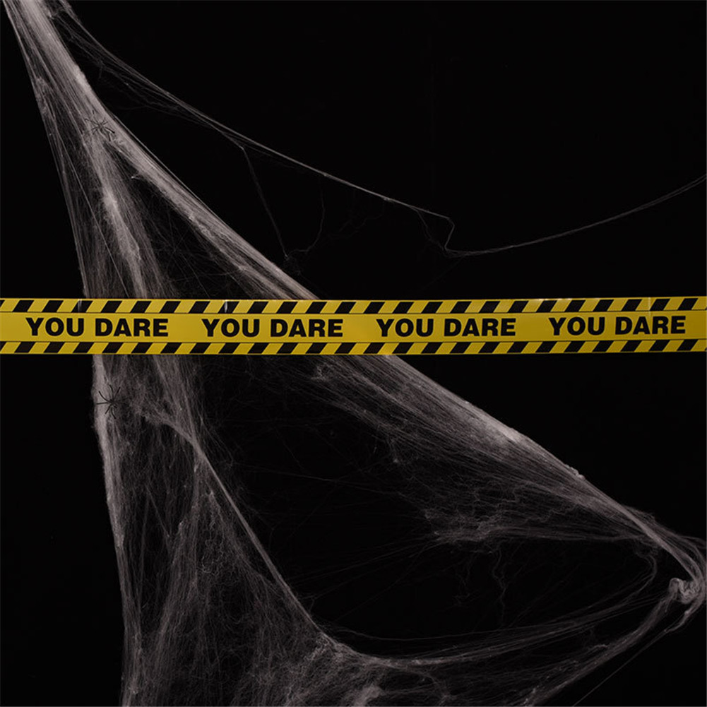 Halloween Cordon Insulation Plastic PE Yellow you dare