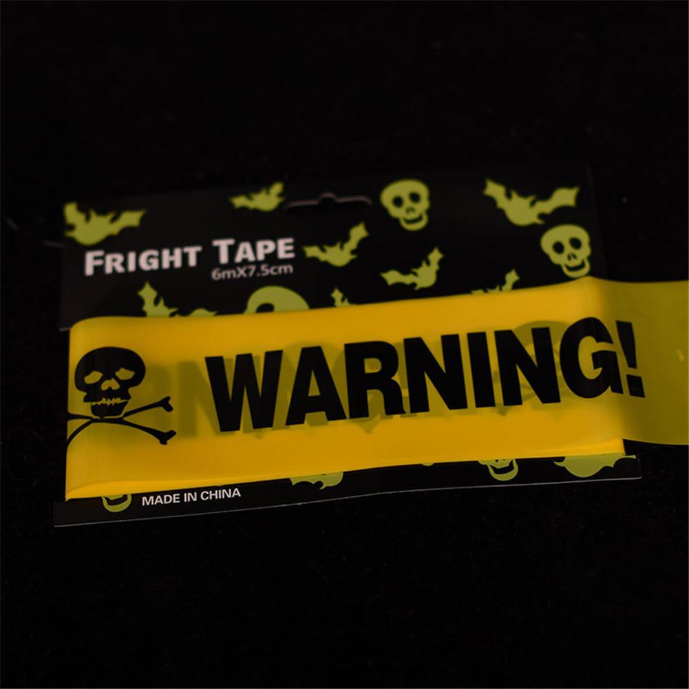 Halloween Cordon Insulation Plastic PE Yellow WARNING