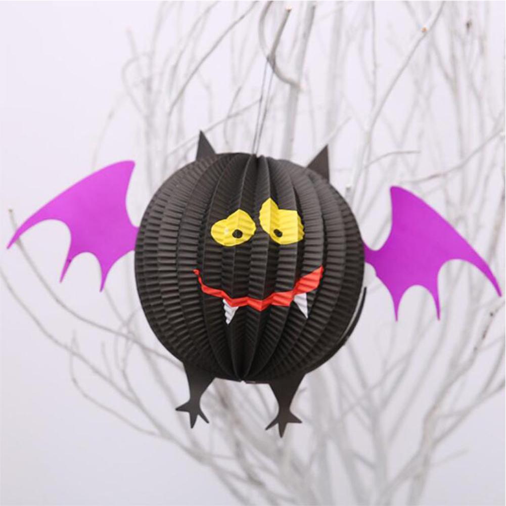 Halloween Paper  Pendant Spider Bat Ghost Lantern Party Scene Decoration Props Sphere lantern bat