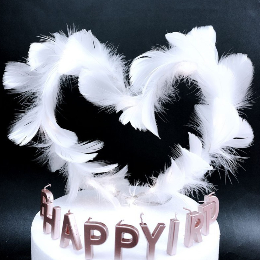 Feather Cake Topper Decoration for Birthday Party Wedding Use