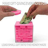 [EU Direct] Money Maze: Unique Way to Give Small Gifts, Items - Perfect Gift Puzzle Box for Kids - Cool 1, 2, 5 Dollar Coin Piggy Bank - Safe for Children - Birthday Christmas Gift Ideas for Dad Mom Men or Women