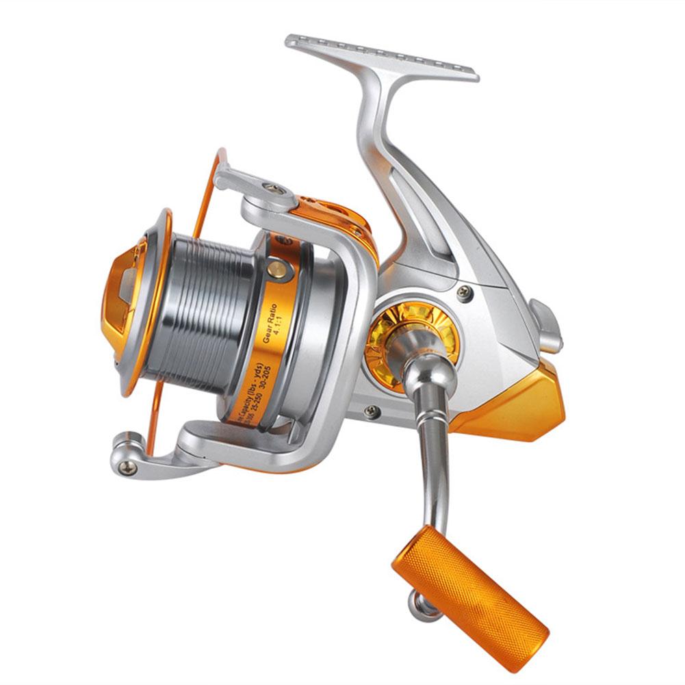 Long Shot Reel Large Size 8000 9000 12+1 Axle Spining Reel Sea Fishing Wheel AQ8000 silver white