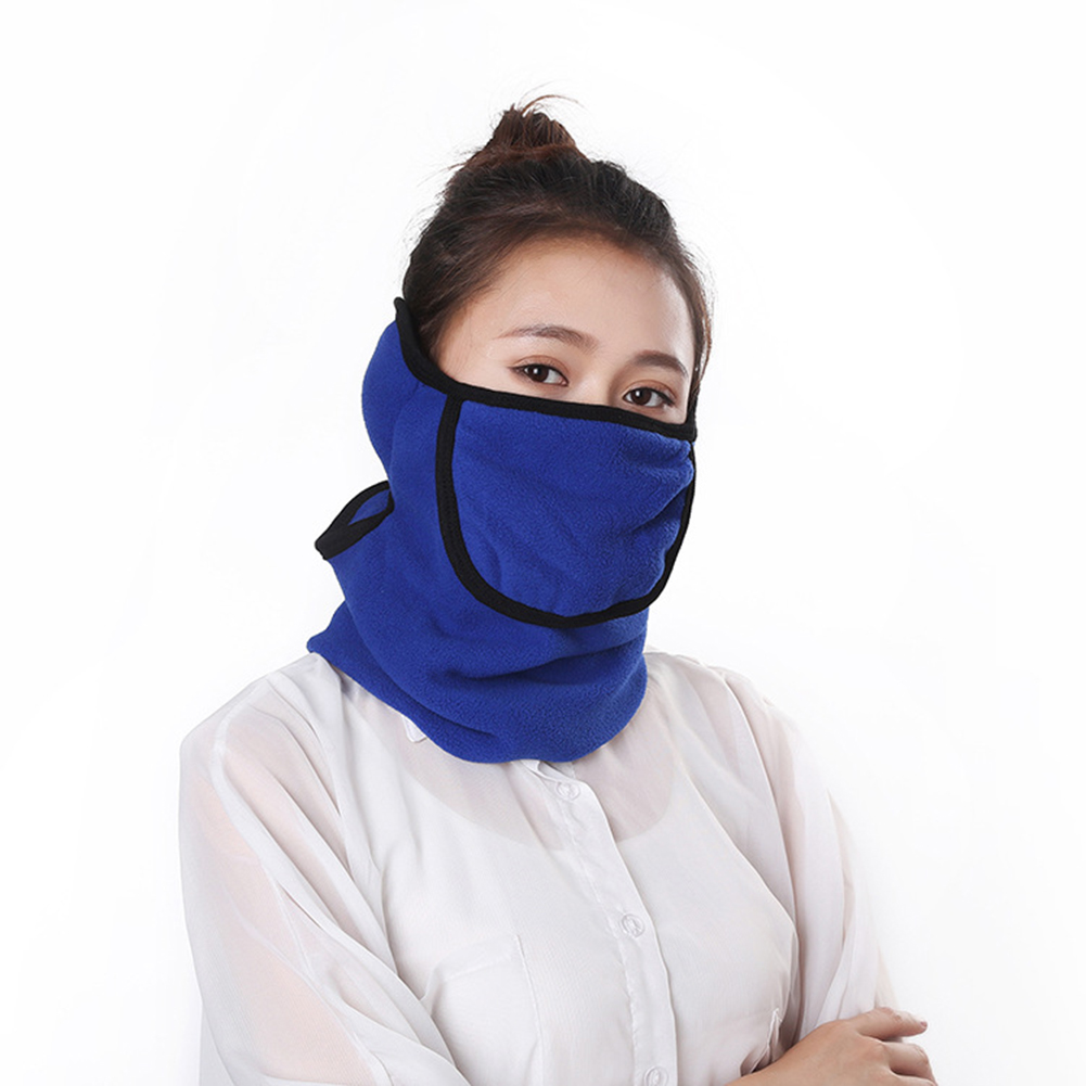 3 in 1 Outdoor Full Face Mask Neck Cover Earmuff Dustproof Warm Mask for Winter Royal blue