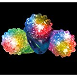 CoolGlow 24ct LED Light Up Jelly Bumpy Rings - Assorted Colors