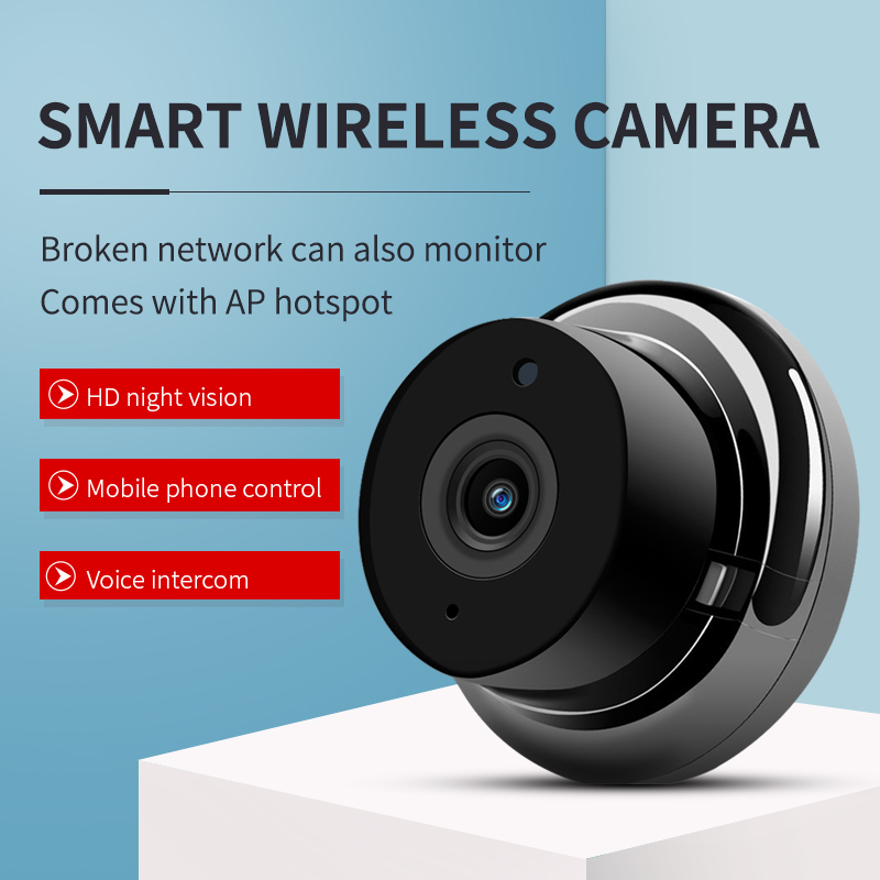 Mini WiFi Camera 720P Home Security Wireless Monitor Night Vision Motion Detection Indoor Outdoor Video Recorder  EU Plug