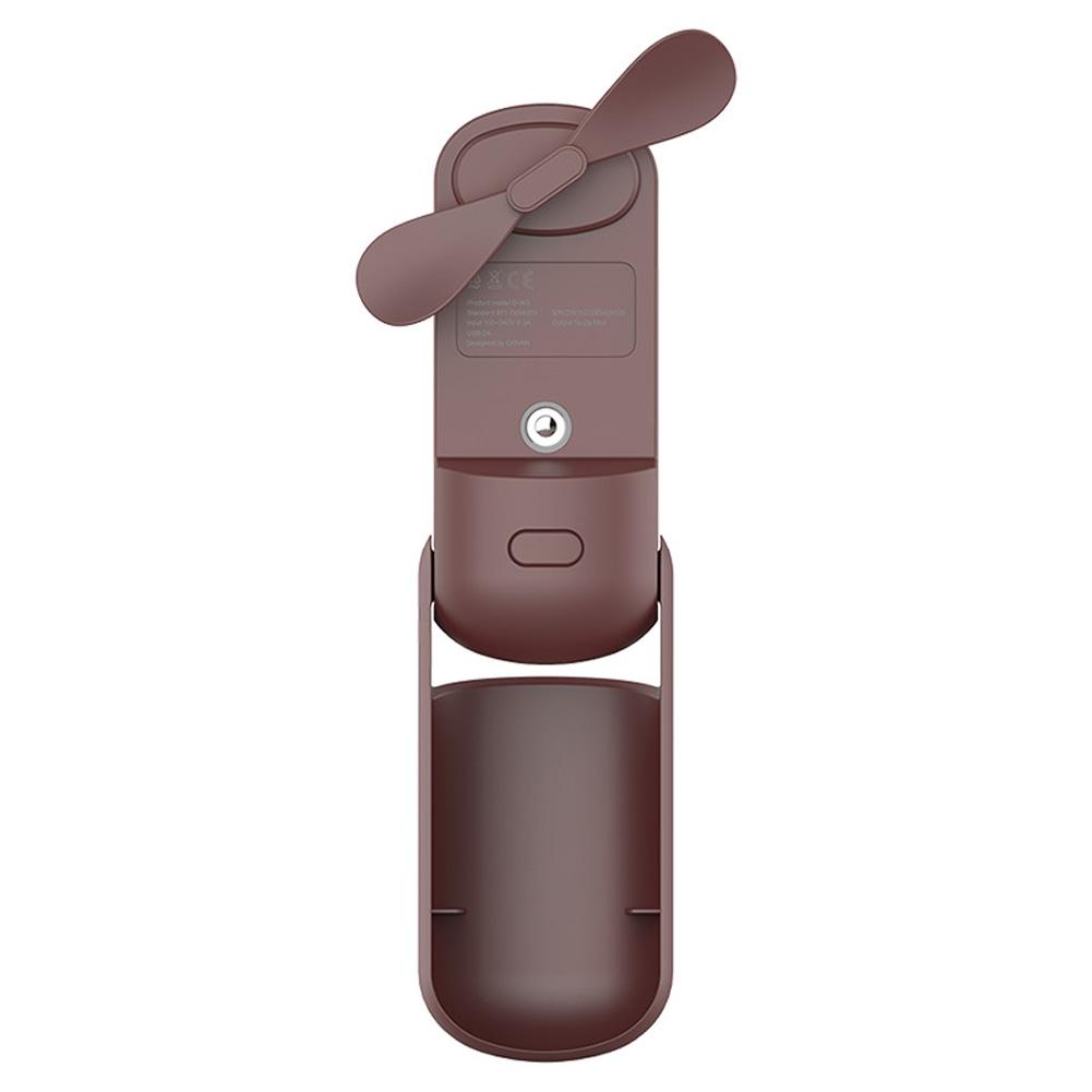 Handheld Spray Fan Multi-Function Folding Humidifier Fan Outdoor Moisturizing brown