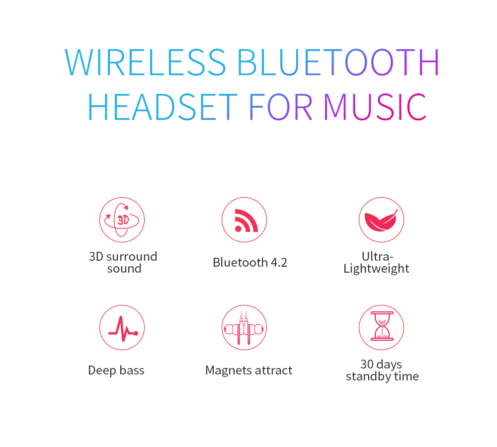 TotalPro DACOM GH01 Deep Bass Bluetooth Earphone Wireless Headphone with  Mic Sports Stereo 3D Game Music Headset for Smartphones Red - Australia  free