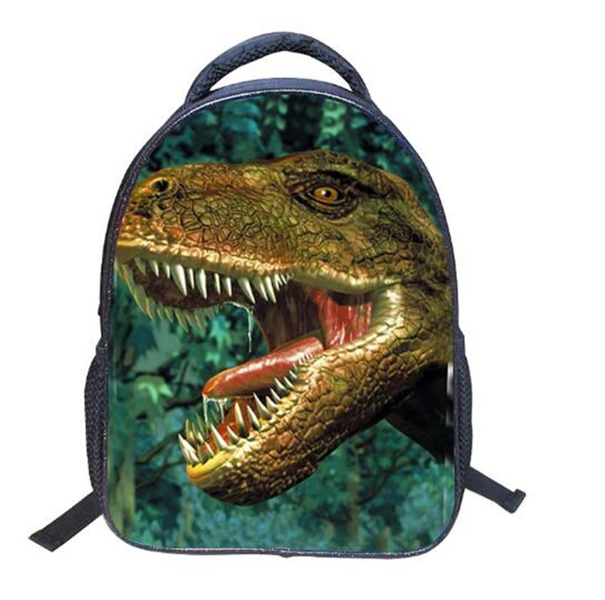 14 Inch 3D Children Cool Dinosaur Backpack Exquisite Schoolbag Travelling Shoulder Bag Gift