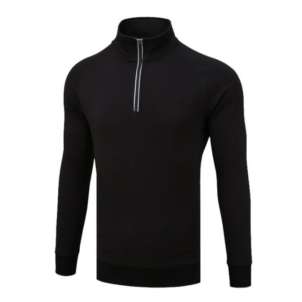 Golf Autumn Winter Sweater Male High Collar Long Sleeve Simier Thicken Warm Clothes YF108 black plus blouse_M