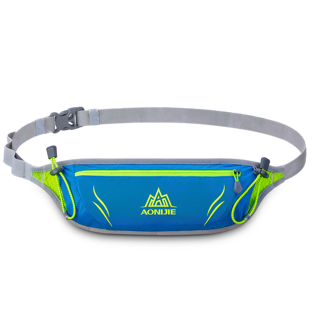 [US Direct] Outdoor Unisex Sports Waist Bag Ultralight Waterproof Cellphone Pouch for Runing Cycling Blue_10 inches below