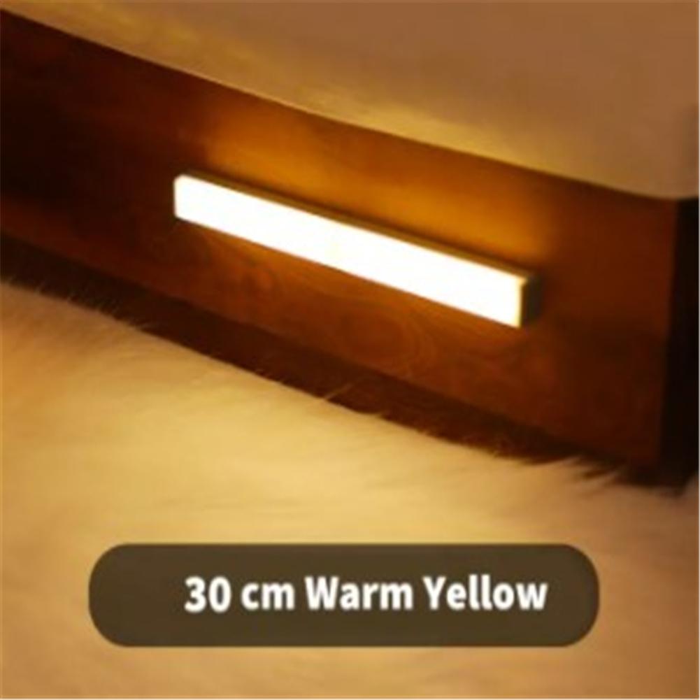Night  Light Human Motion Sensor Led Lamp For Bedroom Bathroom Kids Room (warm Yellow/white) Warm light 30cm