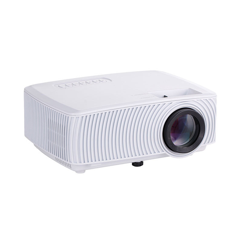 816 LED Projector 1200Lumens Home Entertainment Theater Home Use HD Mini Projector Support SD HDMI USB VGA white_European regulations