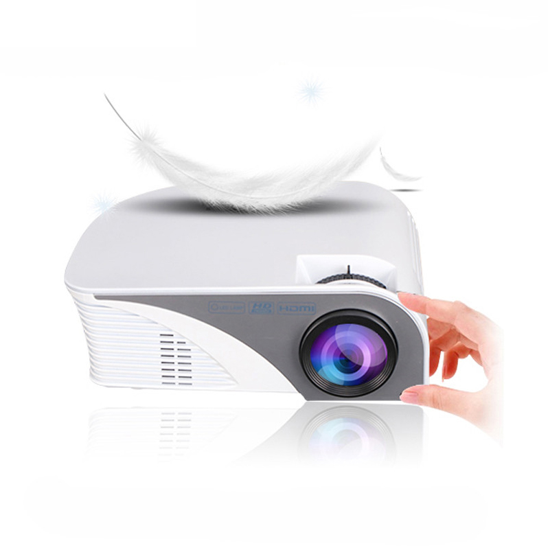 G8005B Mini Projector LED Beamer Home Cinema Projector Theater Projectors for Home Use Eaducation LCD TFT display System white_European regulations