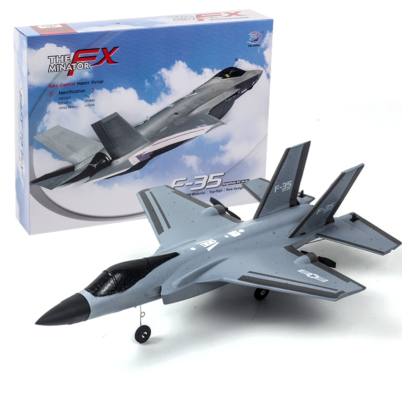 Rc Aircraft Fx935 Four-channel F35 Jet Electric Foam Airplane Toy gray