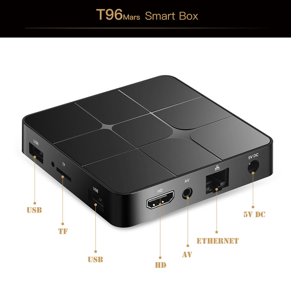 T96 mars Smart Android TV Box EU Plug