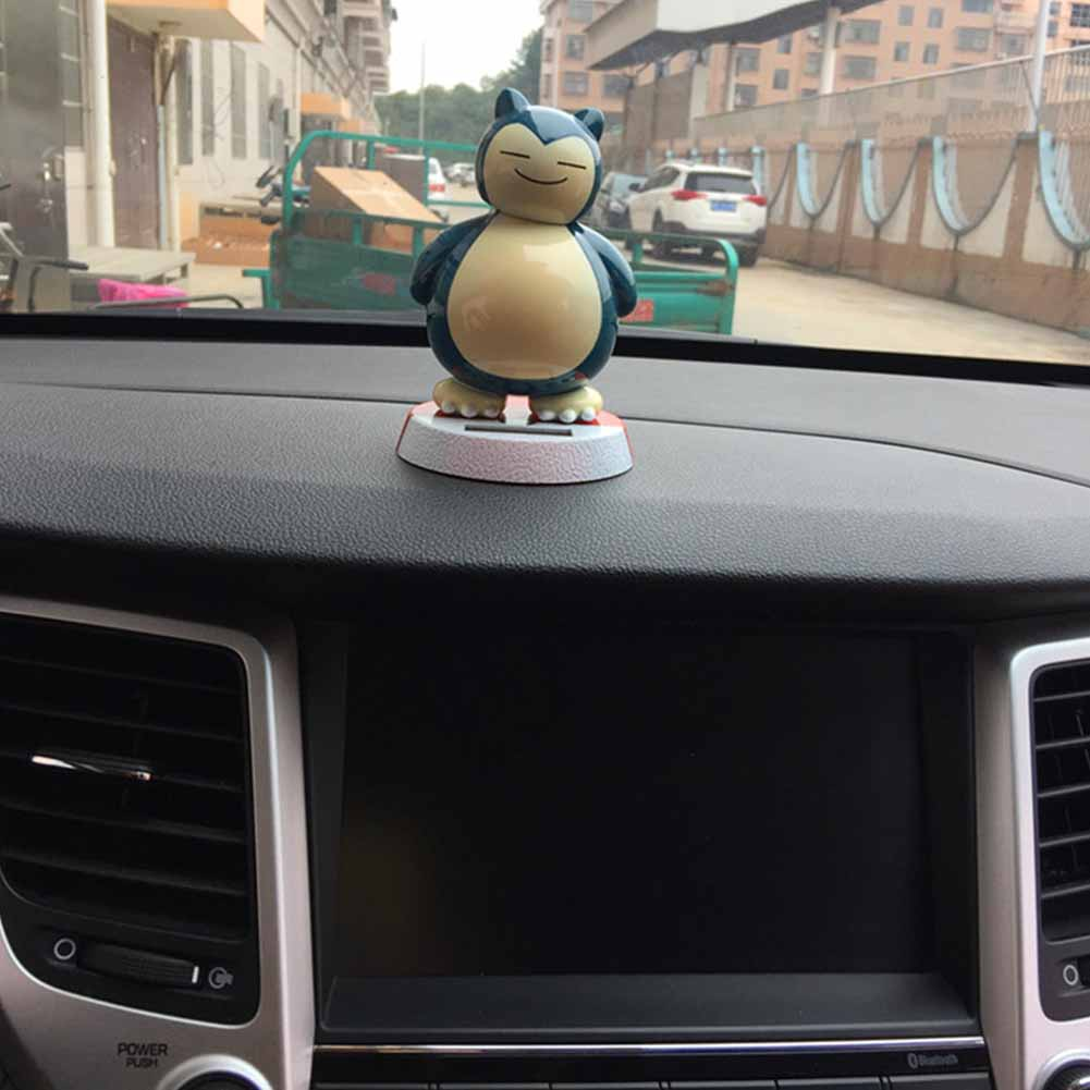 Solar Powered Doll Ornament Snorlax Lovely Doll Car Interior Decorations