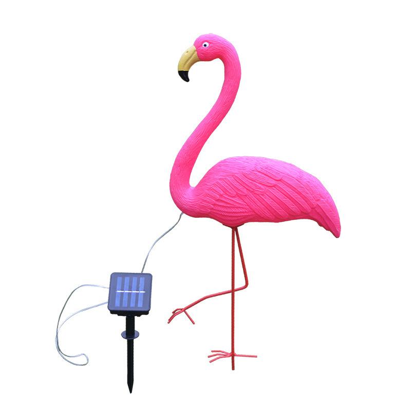 LED Solar Flamingo Stake Light Pathway Decorative Outdoor Lawn Yard Lamp Large