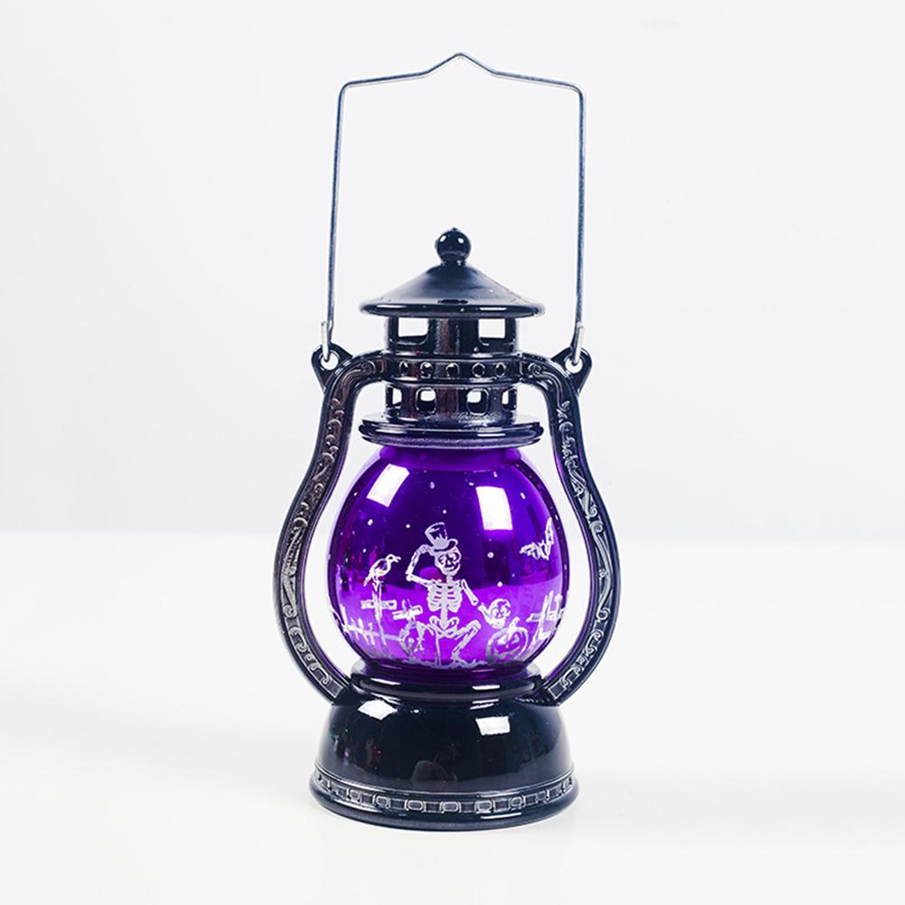 Creative Halloween Decorative Lights Retro Laser Hanging Lamp for Bar Hotel Decor B white skull