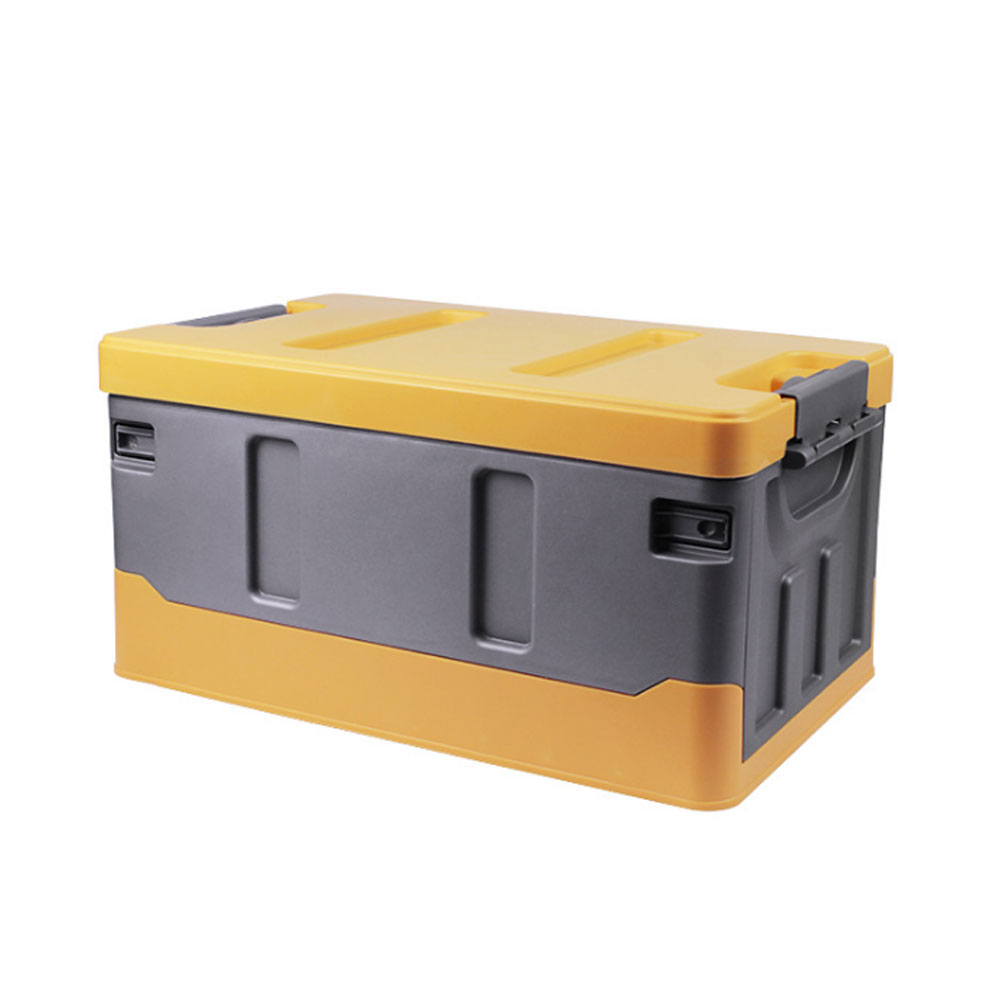 Car Organizer For Trunk Transporting Storage Camping Car Accessory Car Organizer Box Organizer Luggages Yellow gray_40L
