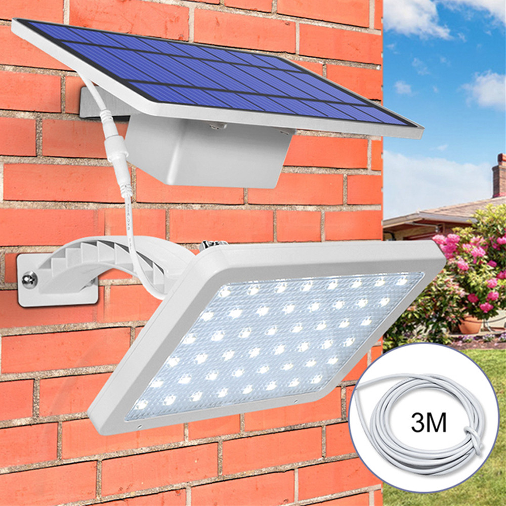 48LEDs Light Control Solar Powered Wall Light for Garden Courtyard Decor White warm white light 3000K